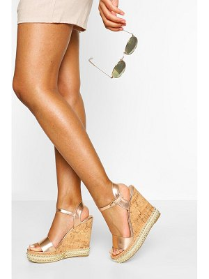 Boohoo 2 Part Studded Cork Wedges