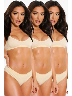 Boohoo 3 Pack Seamfree Thong
