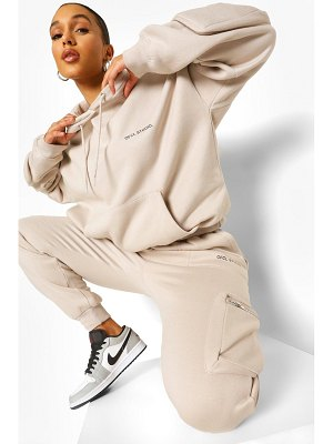 Boohoo 3D Cargo Pocket Hooded Tracksuit