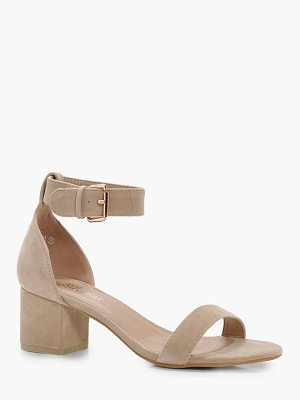 Boohoo Abigail Ankle Band Low Block Heel 2 Parts