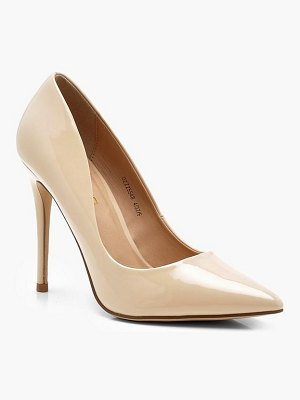 Boohoo Patent Pointed Toe Court Shoes