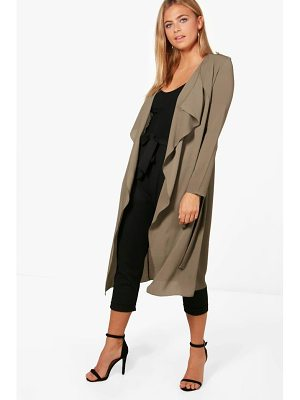 BOOHOO Abigail Waterfall Belted Duster