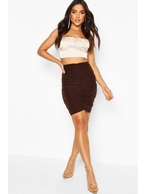 Boohoo All Over Ruched Mini Skirt