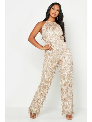 Boohoo All Over Sequin Low Back Jumpsuit