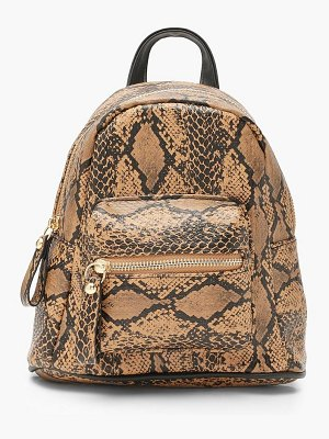 Boohoo All Over Snake Mini Rucksack