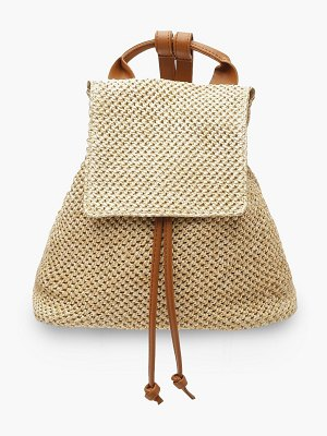 Boohoo All Over Straw Rucksack