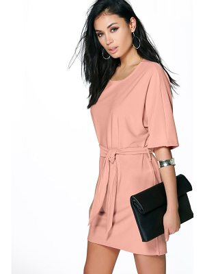 Boohoo Allie Tie Waist Shift Dress