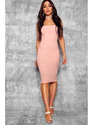 Boohoo Ally Bandeau Midi Dress