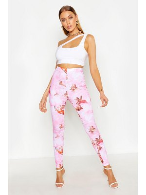 Boohoo Angel Print Ribbed Leggings