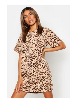 Boohoo Animal Print Shift Dress