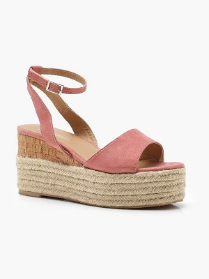 Boohoo Ankle Band Espadrille Flatforms