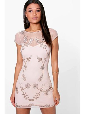 BOOHOO Arisa Embellished Bodycon Dress