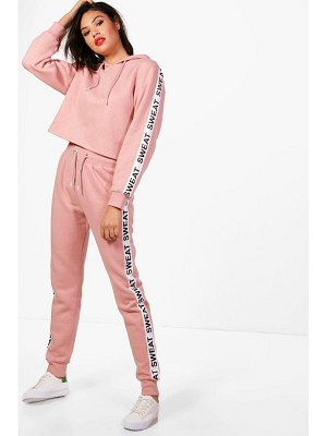 Boohoo Athleisure Sweat Slogan Tracksuit