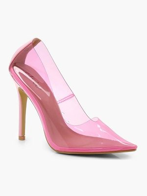 Boohoo Clear Court Heels