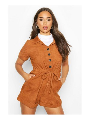 Boohoo Baby Cord Button Front romper