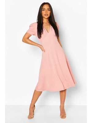 Boohoo Baby Doll Skater Midi Dress