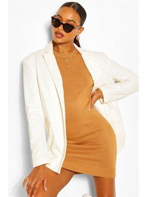 Boohoo Balloon Sleeve Knitted Dress