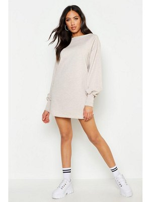 Boohoo Balloon Sleeve Sweat Dress