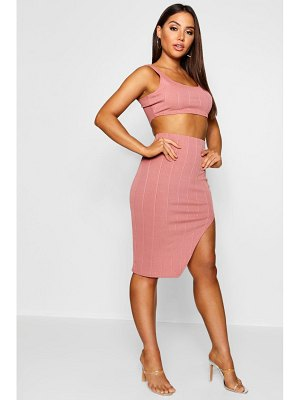 Boohoo Bandage Skirt And Crop Top Two-Piece Set