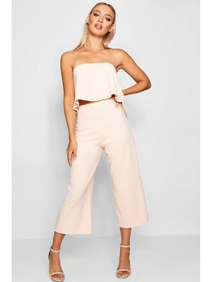 Boohoo Tube Top And Culottes Two-Piece Set