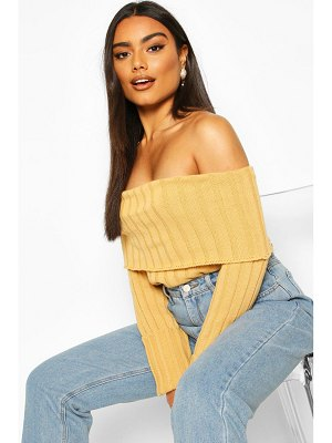 Boohoo Bardot Rib Knit sweater