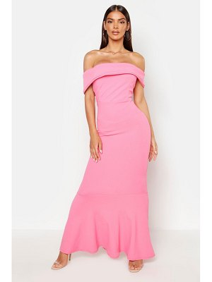 Boohoo Bardot Sleeve Detail Maxi Dress