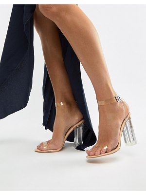 Boohoo barely there block heel sandals