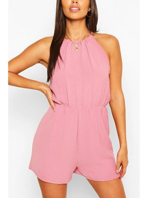Boohoo Basic High Neck Flippy Romper