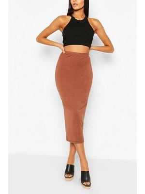 Boohoo Basic High Waist Midaxi Skirt