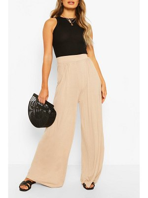 Boohoo Basic Pin Tuck Soft Tailored Wide Leg Pants