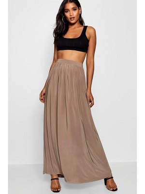 Boohoo Basic Slinky Floor Sweeping Maxi Skirt