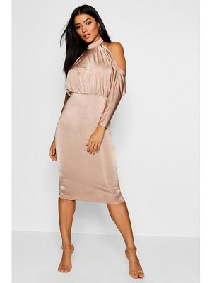 Boohoo Batwing Open Back Bodycon Midi Dress