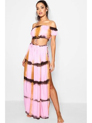 BOOHOO Bea Tie Dye Split Beach Co-Ord