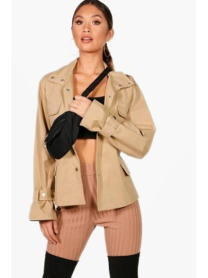 BOOHOO Becky Belted Utility Jacket