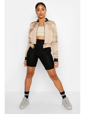 Boohoo Belt Detail Bomber Jacket