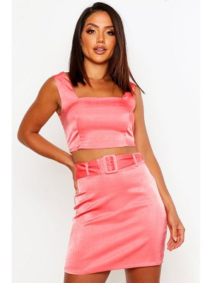 Boohoo Belted A-Line Mini Skirt