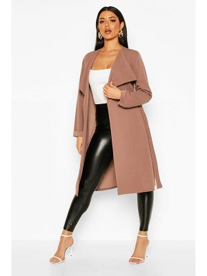 Boohoo Belted Collared Duster