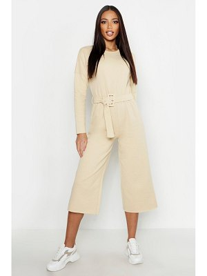 Boohoo Belted Sweat Culotte Jumpsuit