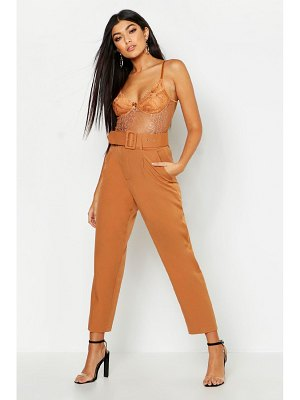 Boohoo Belted Tailored Pants