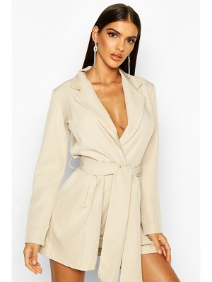 Boohoo Belted Tailored romper