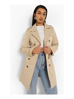 Boohoo Belted Trench Coat