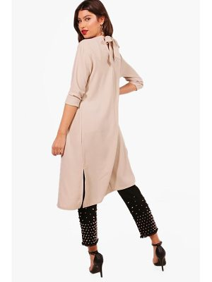 BOOHOO Bethany Bow Back Duster
