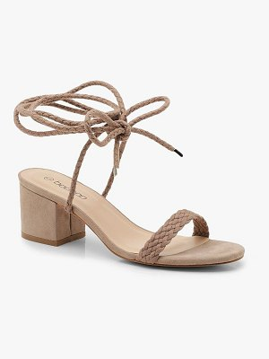 Boohoo Block Heel Plait Strap Sandals