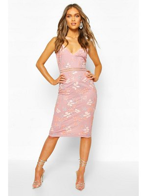 Boohoo Boohoo Occasion Sequin Floral Midi Dress