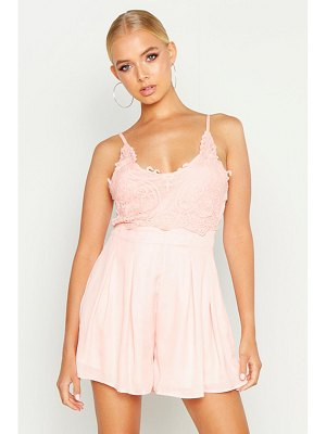 Boohoo Boutique Crochet Detail Flippy Playsuit