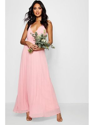 Boohoo Boutique  Pleated Chiffon Maxi Dress