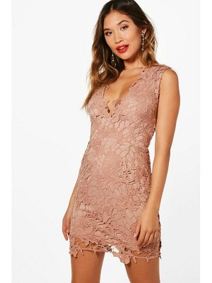 Boohoo Boutique Lace Scallop Detail Dress