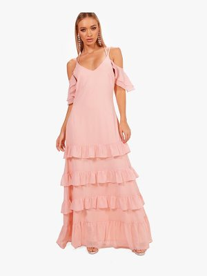 BOOHOO Boutique Leah Ruffle Hem Maxi Dress