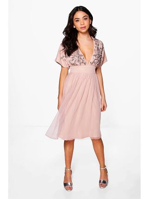 BOOHOO Boutique Megan Embellished Skater Dress