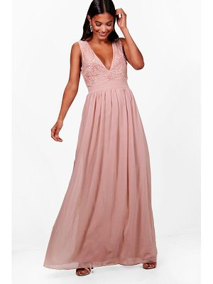 BOOHOO Boutique Meli Embellished Maxi Dress